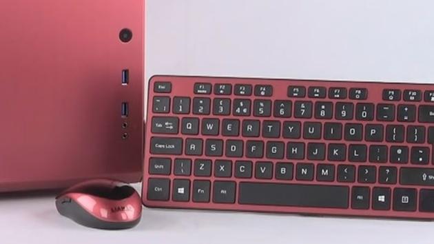 Lian Li KB-01 & KM-01: Flache Tastatur mit Aluminium in Gehäusefarben