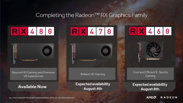AMD stellt die Radeon RX 460 und Radeon RX 470 vor