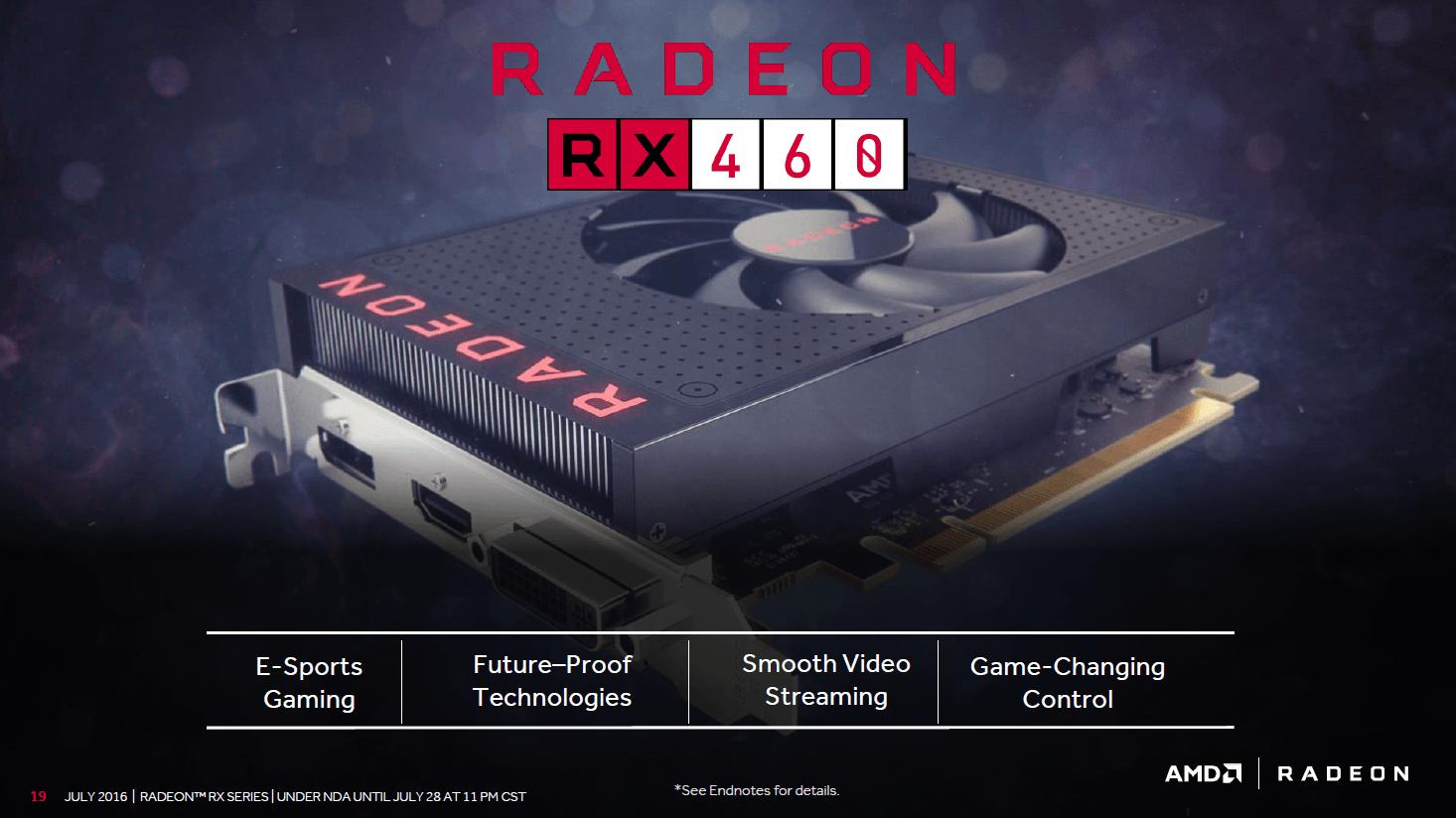Details zur Radeon RX 460