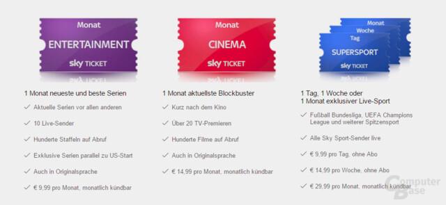 Das neue Sky-Ticket-Angebot