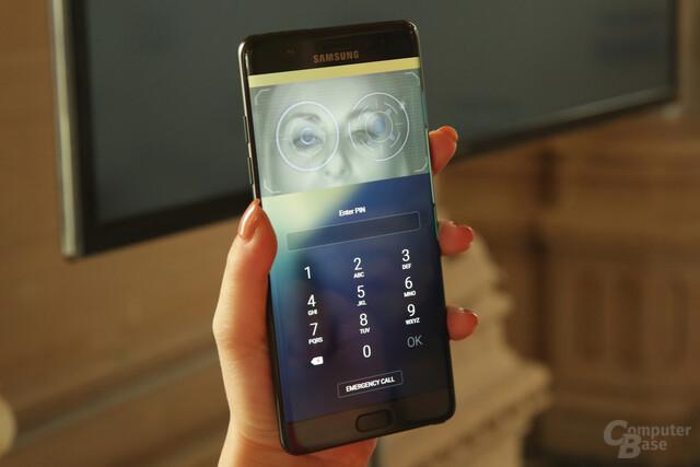 Iris-Scanner in Aktion