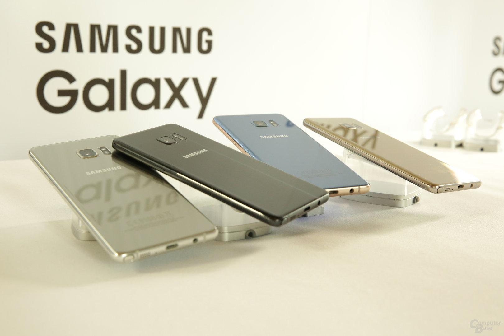 Die vier Farben des Galaxy Note 7