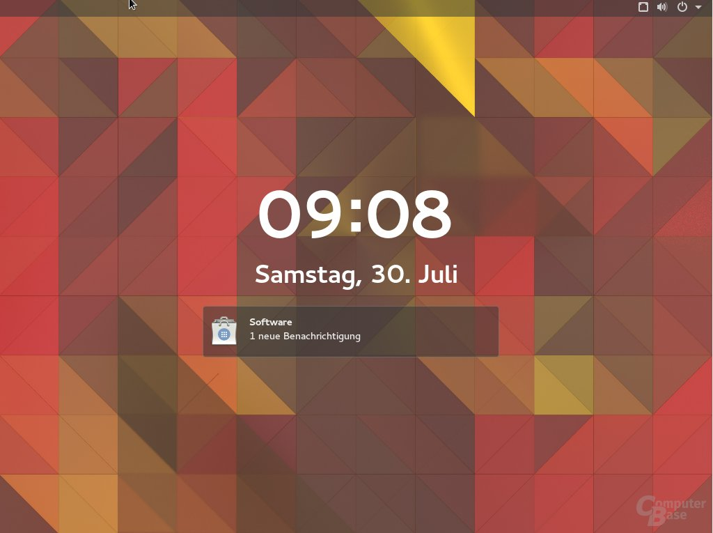 Fedora 23 zeigt Updates an