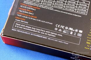 Plextor M8PeG: Nicht empfohlen für Notebooks