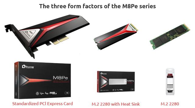 Plextors M8Pe-Serie in drei Varianten