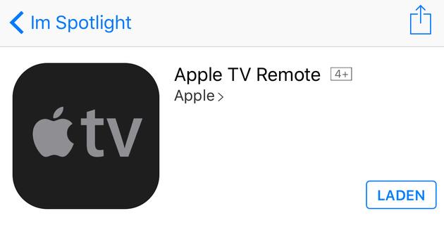 Jetzt verfügbar: Neue Remote-App für den AppleTV