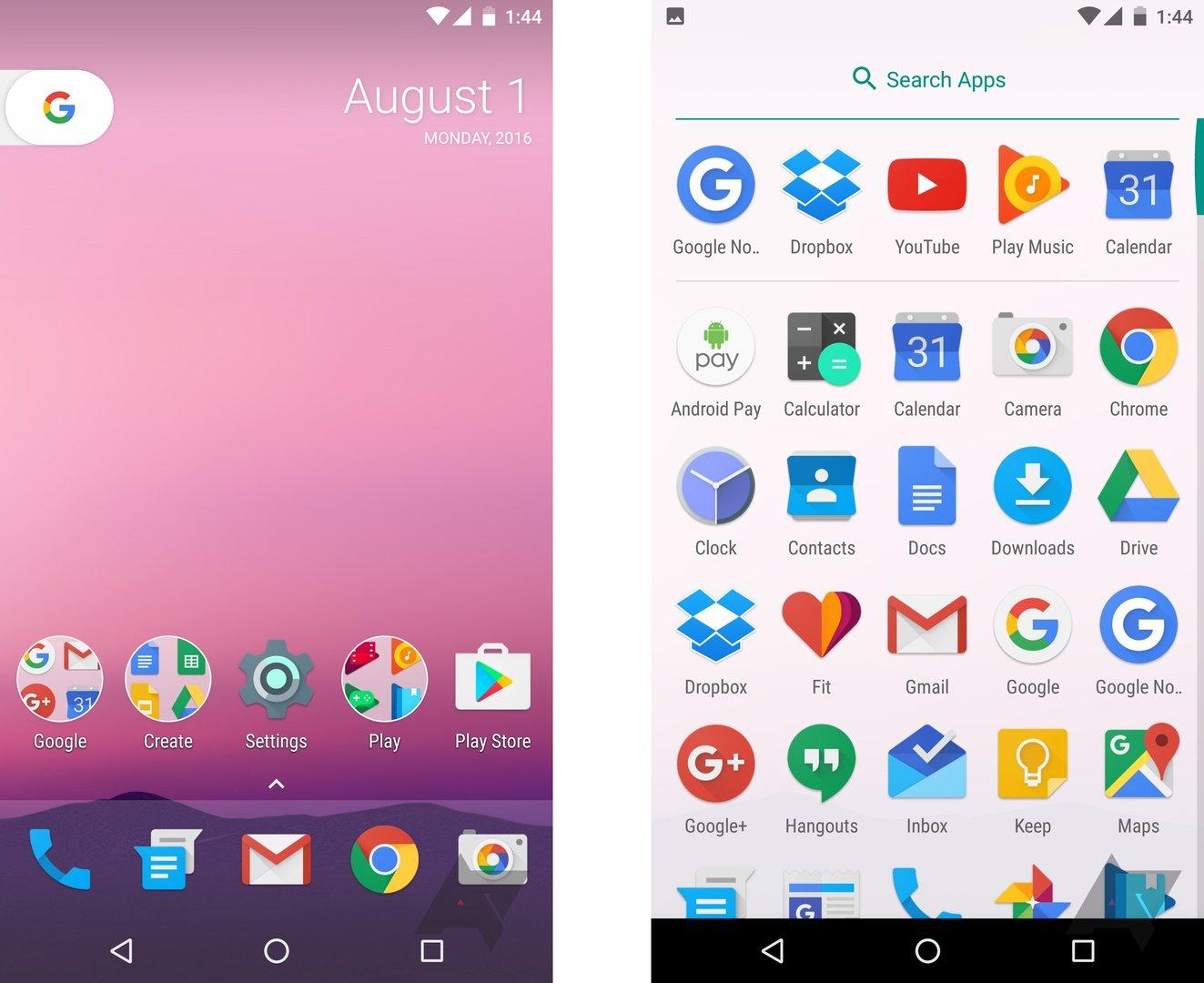 Nexus-Launcher für neue Nexus-Smartphones