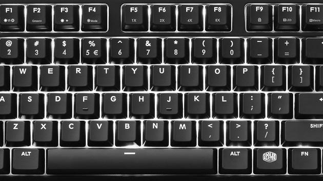 Cooler Master MasterKeys Pro: Weiße LEDs für mechanische Tastaturen in M und L