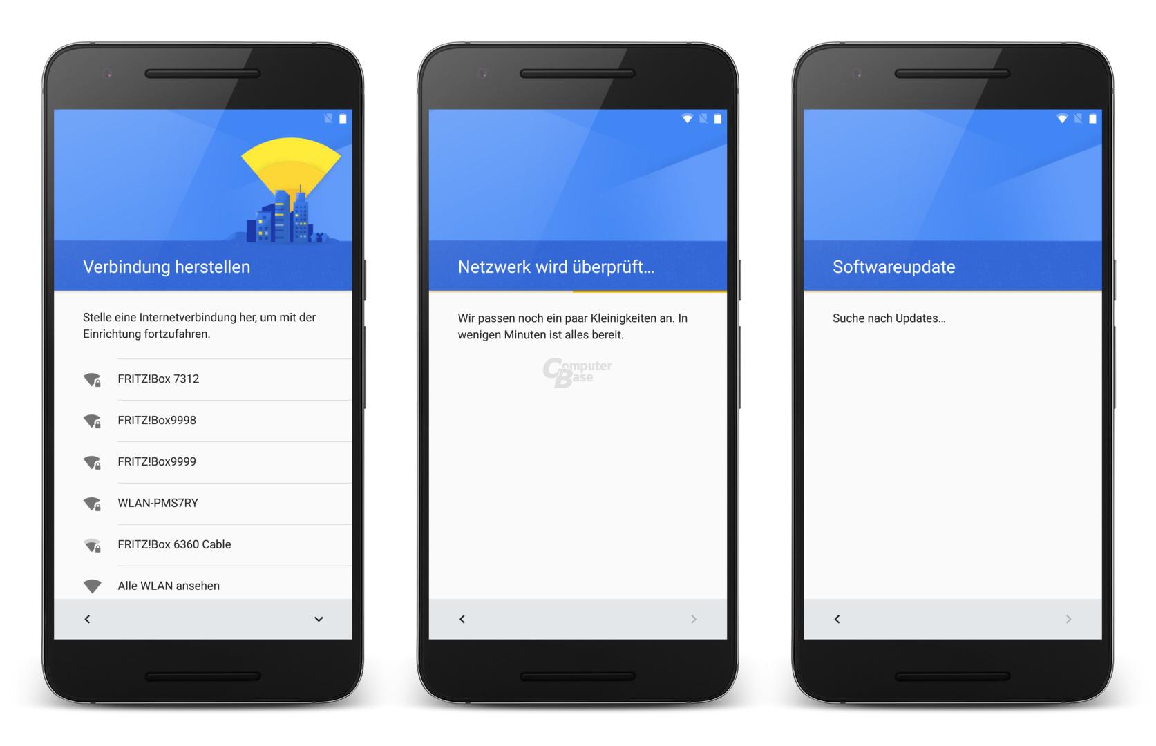 Ersteinrichtung von Android 7.0 auf dem Nexus 6P