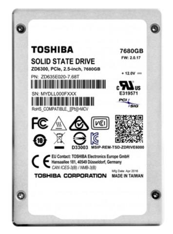 Toshiba ZD6300 mit 7,68 TByte