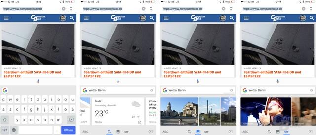 Gboard-Tastatur von Google jetzt auch auf Deutsch