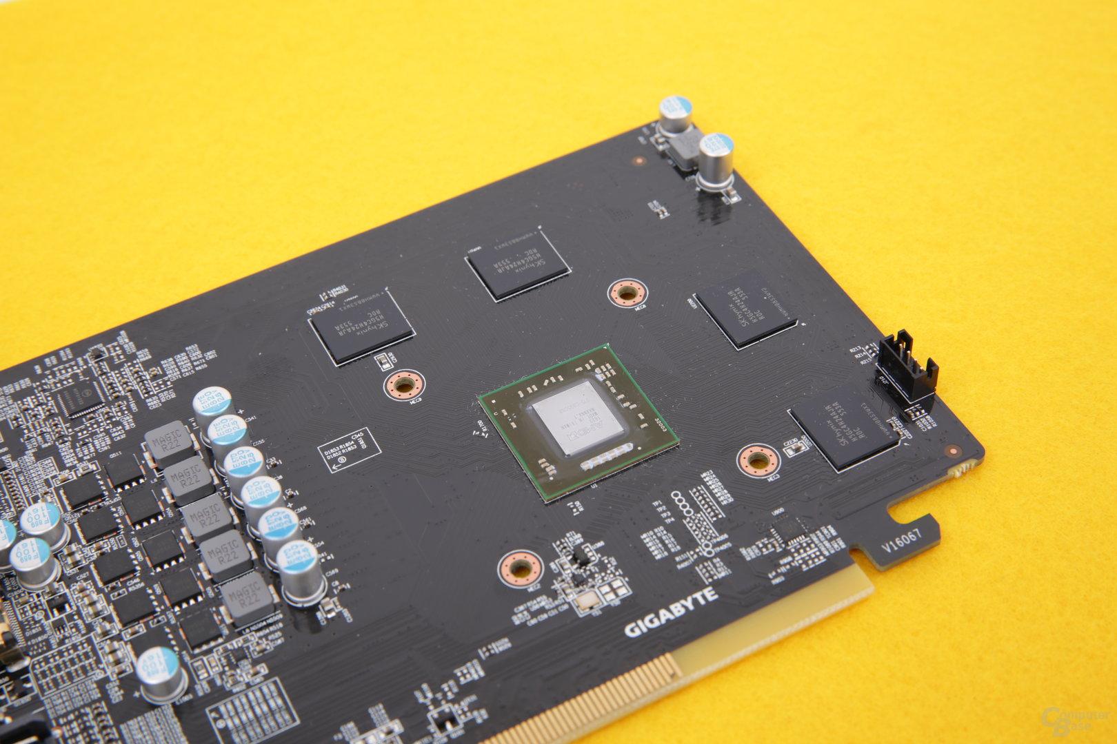 Gigabyte RX 460 – Kühler abmontiert