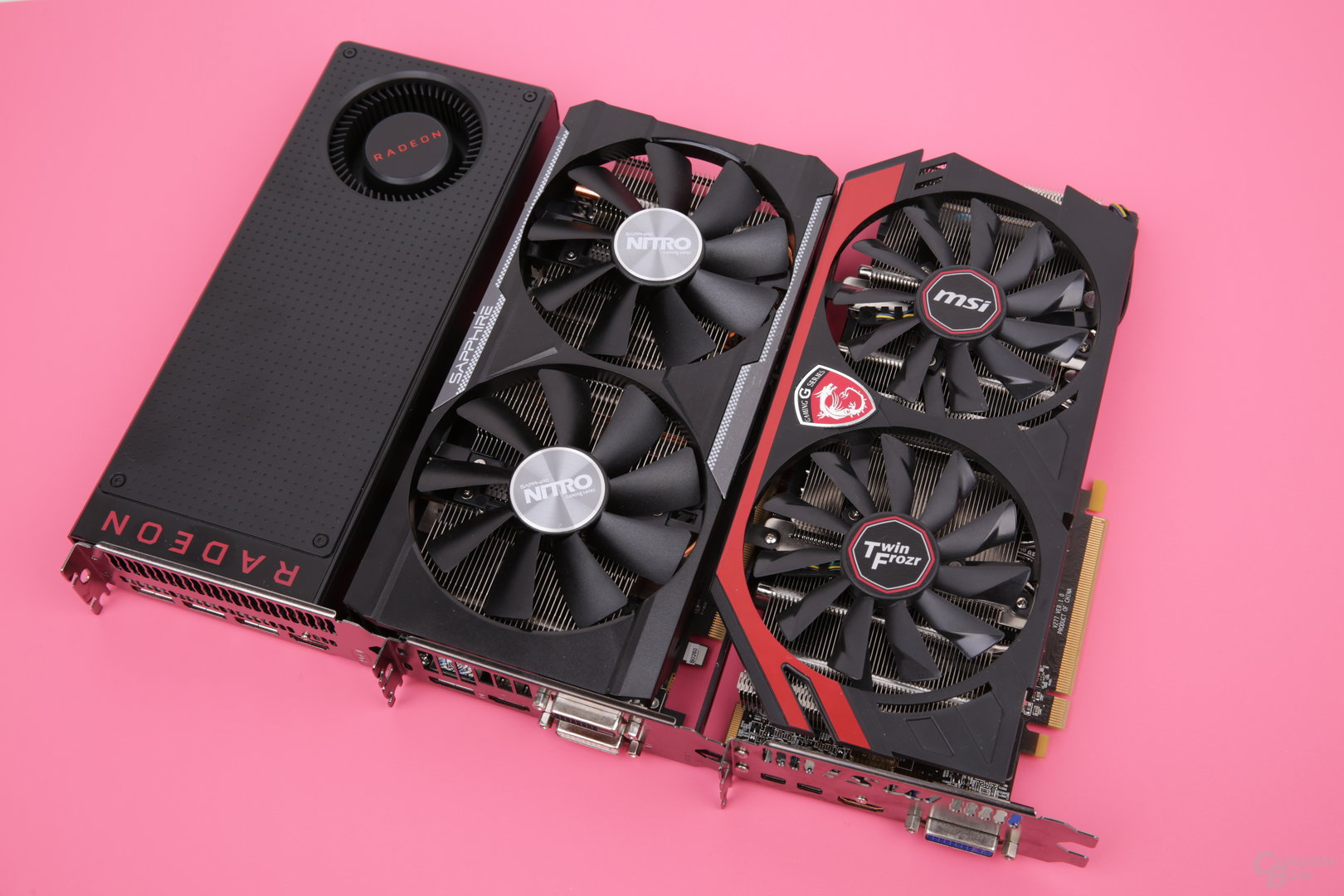 RX 480 (Gen 4), R9 380X (Gen 3) und R9 280X (Gen 1)