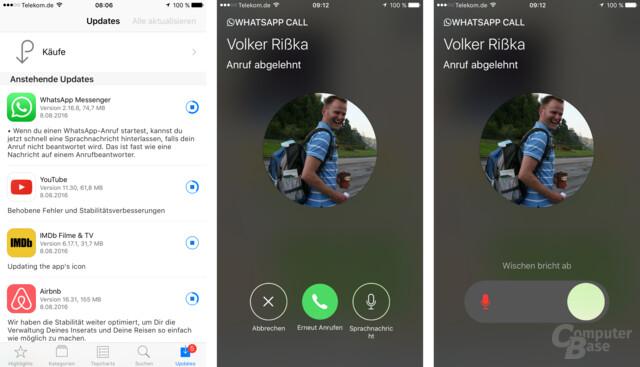 Whats-App-Update mit Anrufbeantworter-Funktion