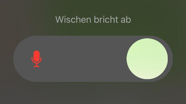 WhatsApp-Anrufbeantworter: Sprachnachrichten auf dem Telefon-Bildschirm für iOS