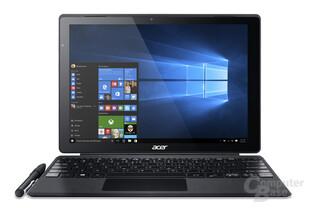Acer Switch Alpha 12 mit flach liegender Tastatur
