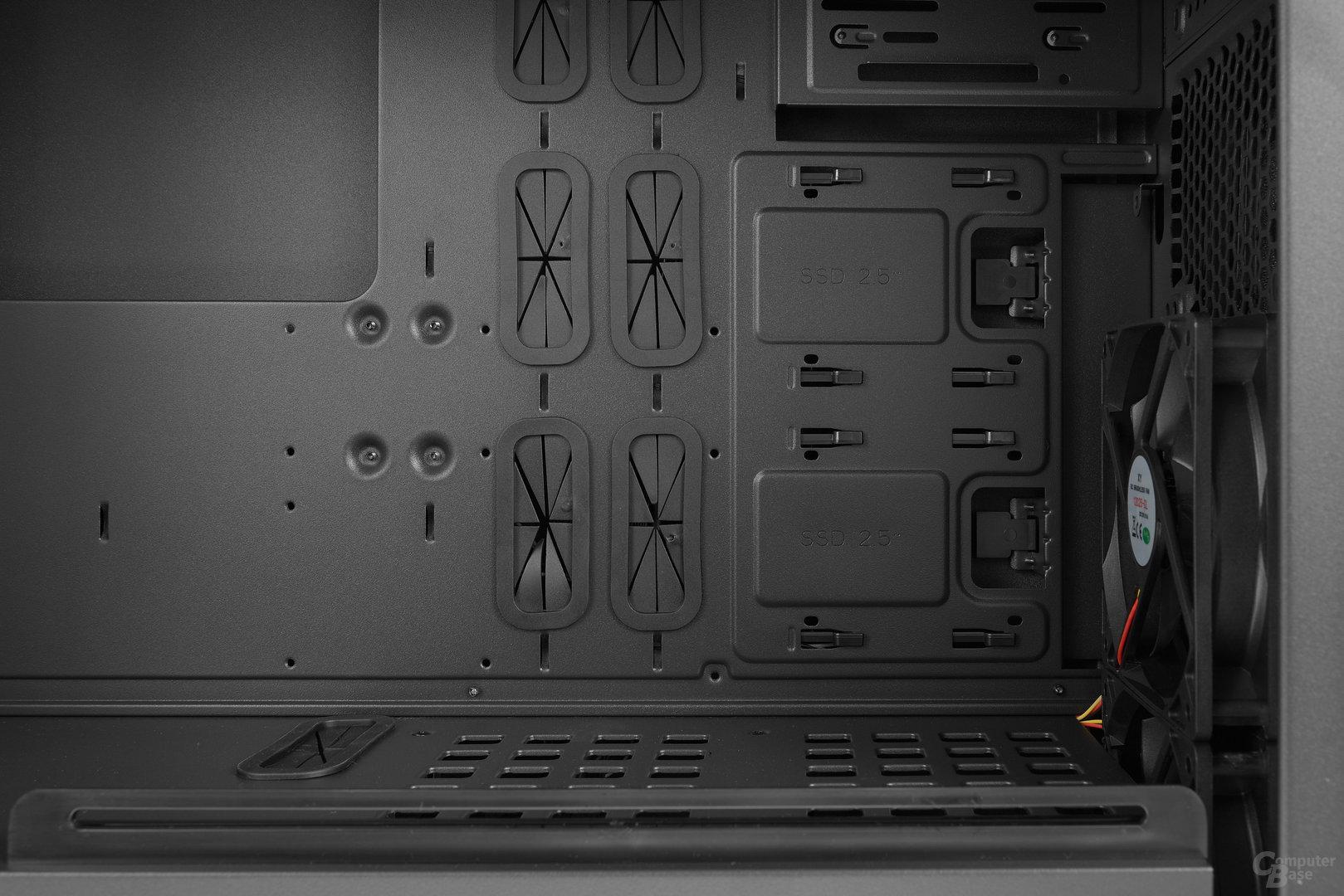 Chieftec GP-01B – Innenraumansicht im Detail