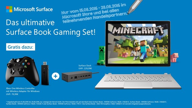 Surface Book Bundle zur Gamescom