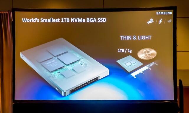 Winzige NVMe-BGA-SSD mit 1 TByte