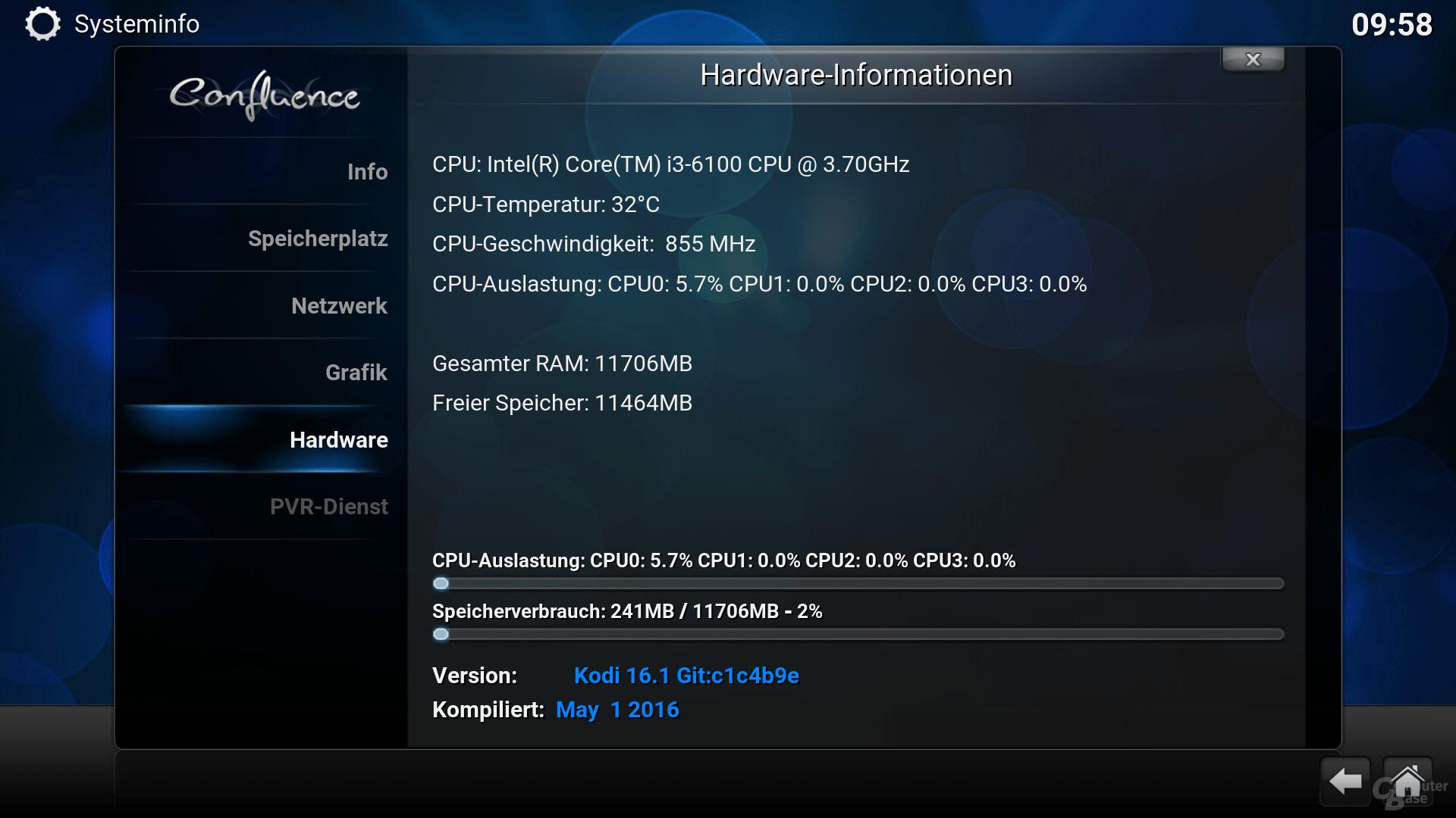 OpenELEC mit Core i3-6100