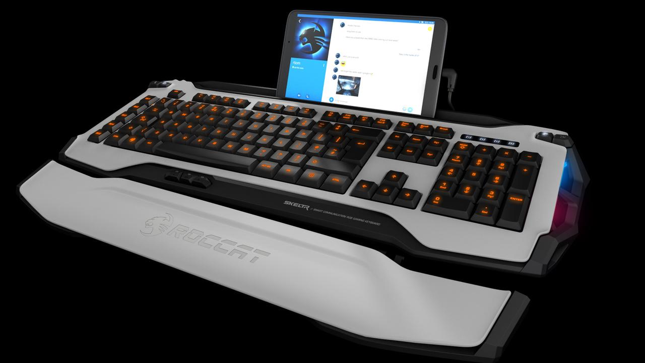 Roccat Skeltr: Bunte Spieletastatur mit Doppelbeziehung zum Handy