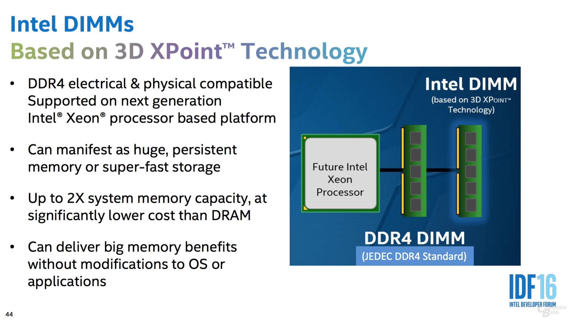 3D XPoint für zukünftige Xeon
