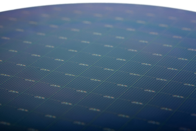 Ein Intel-Silicon-Photonics-Wafer