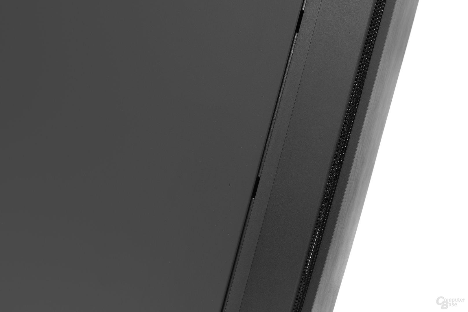 Aerocool DS 230 – Große Spaltmaße zwischen Seitenteilen und Stahlkorpus