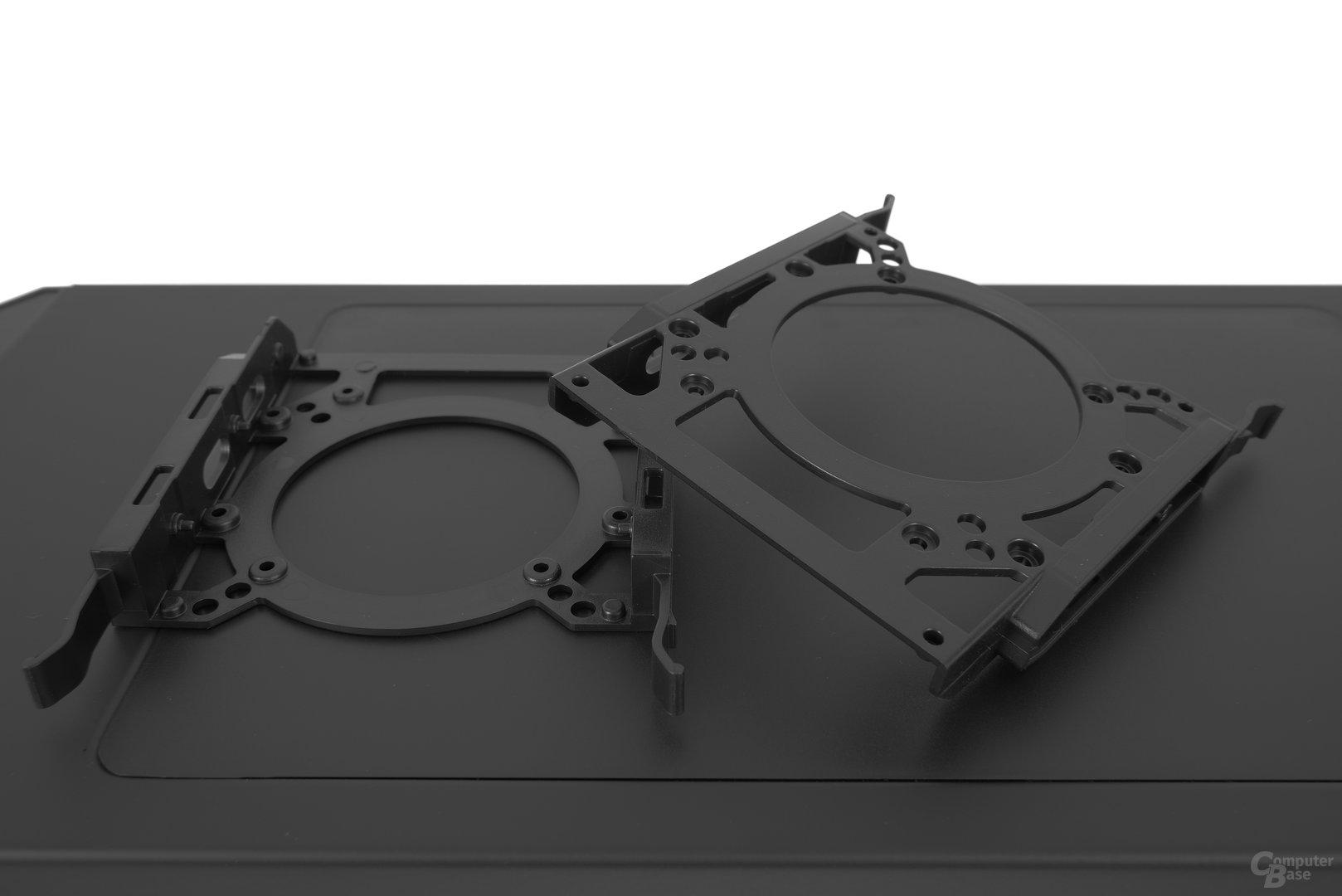 Aerocool DS 230 – Festplattenschienen im Detail