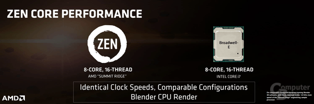 AMD Zen vs. Broadwell-E bei 3,0 GHz