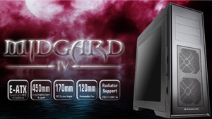 Xigmatek Midgard IV: Aktualisierter Midi-Tower stützt lange Grafikkarten