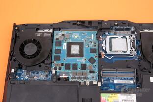 Die GeForce GTX 1070 sitzt auf einem MXM-Modul