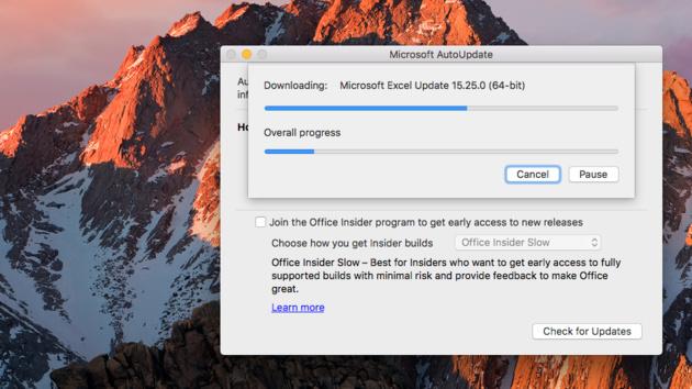 Office 2016 für Mac: Update ersetzt Apps durch 64-Bit-Versionen