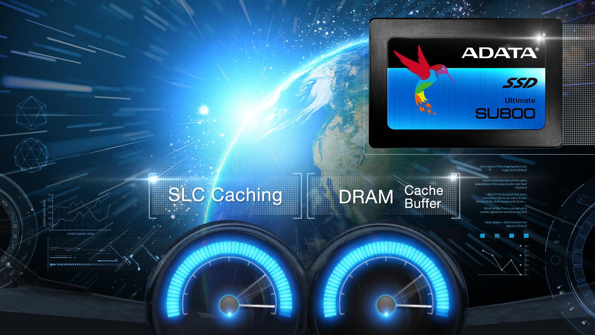 Adata SU800 mit SLC- und DRAM-Cache