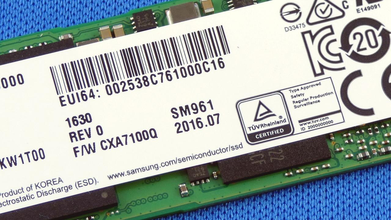 Samsung SM961 SSD: Abstürze durch fehlerhaftes Thermal Throttling