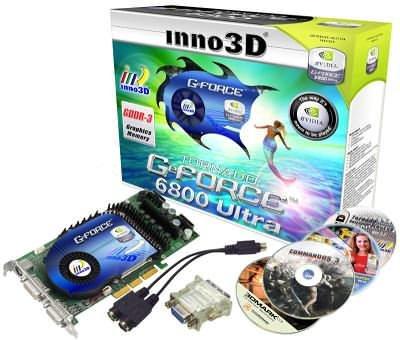 Inno3D GeForce 6800 Ultra mit Zubehör
