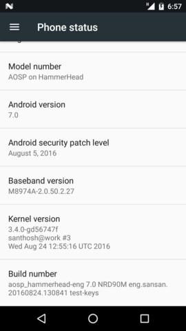 Android 7.0 auf dem Nexus 5