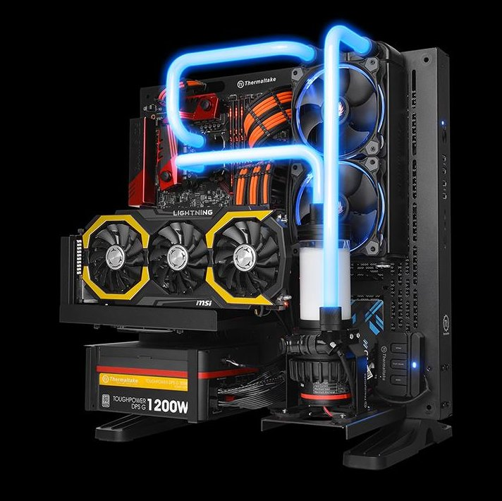 Thermaltake LED-Fittings: Anwendungsbeispiel