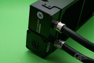 EK Predator 240: Pumpe und Ausgleichsbehälter am Radiator