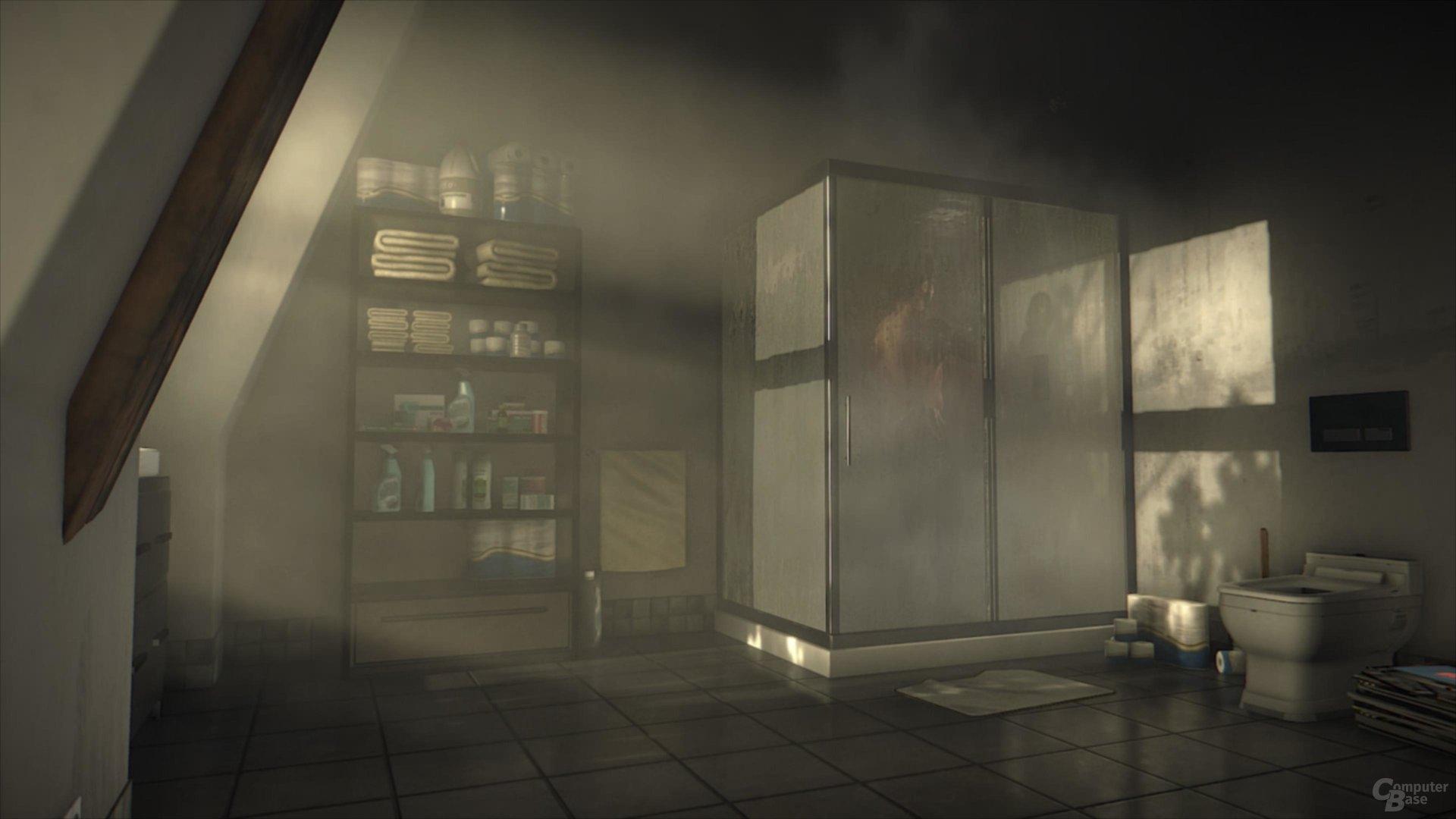 Das Gegenbild zu Tomb Raider: Duschszene mit Mann