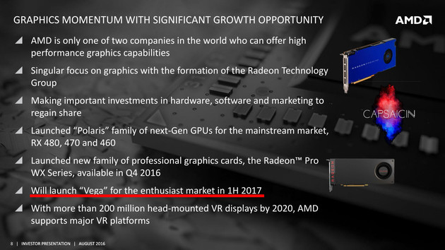 AMD Investor Presenation August 2016, Seite 8