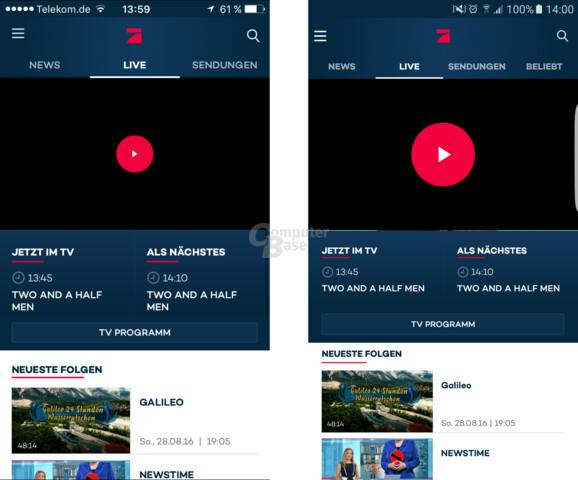 ProSieben-App für iOS und Android