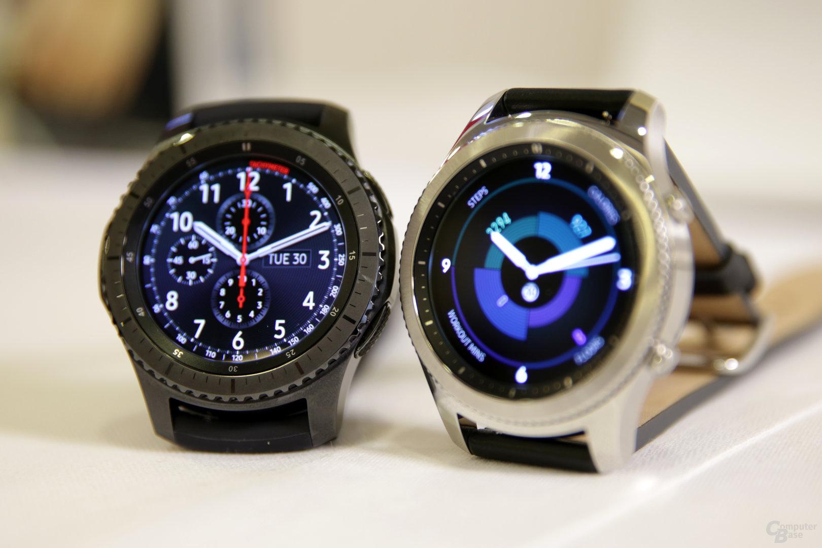 Samsung Gear S3 Frontier (links) und Gear S3 Classic