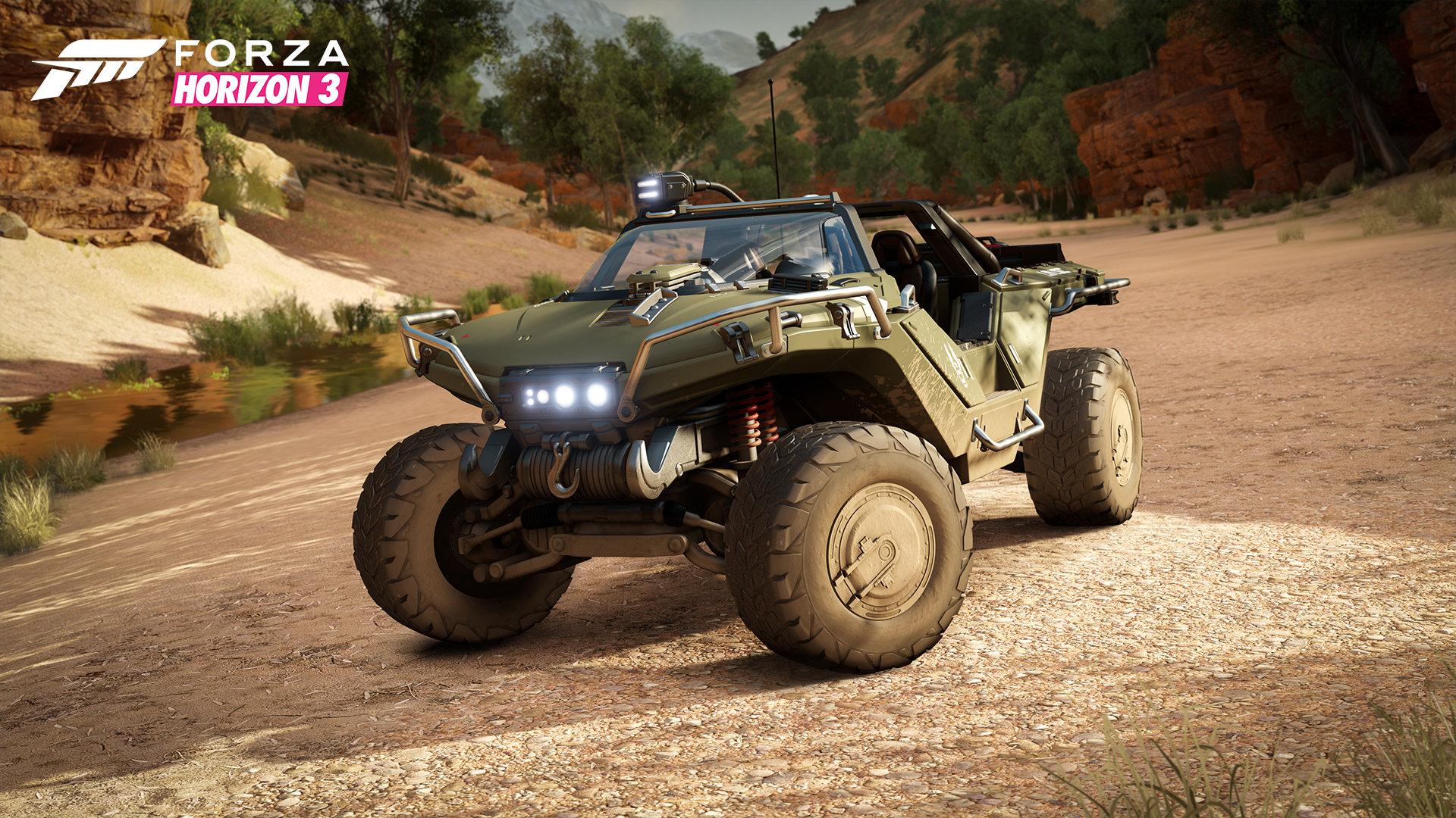 Auch der Warthog-Buggy kann in Forza bewegt werden