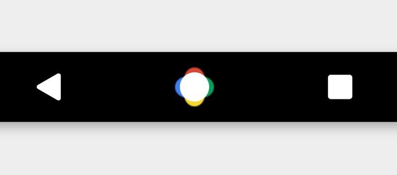 Mutmaßliche Navigationsleiste der kommenden Google-Smartphones