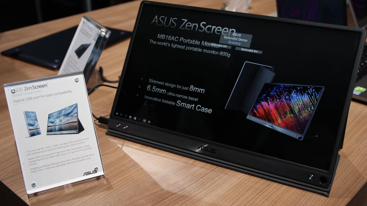 """Asus ZenScreen MB16AC: 15,6"""" großer portabler USB-Typ-C-Bildschirm"""