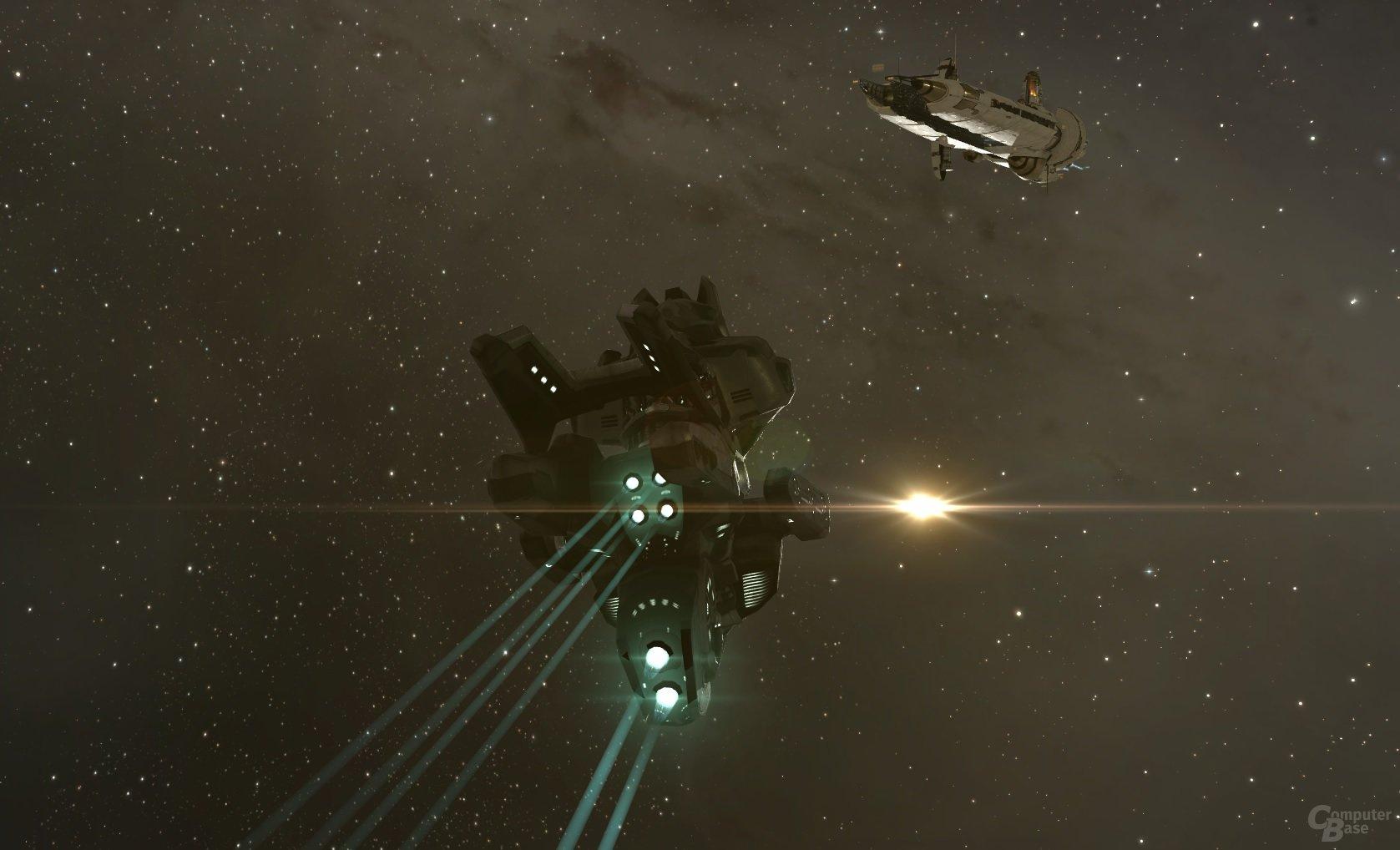 T3 Cruiser Proteus nimmt Kurs auf eine Amarr-Station