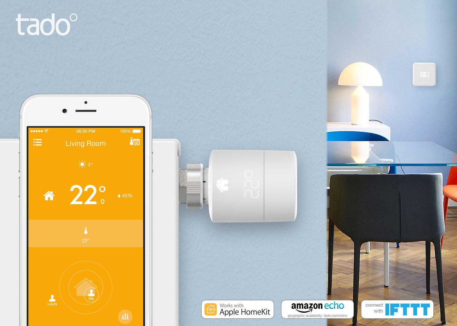 tado° unterstützt Apple HomeKit, Amazon Echo und IFTTT