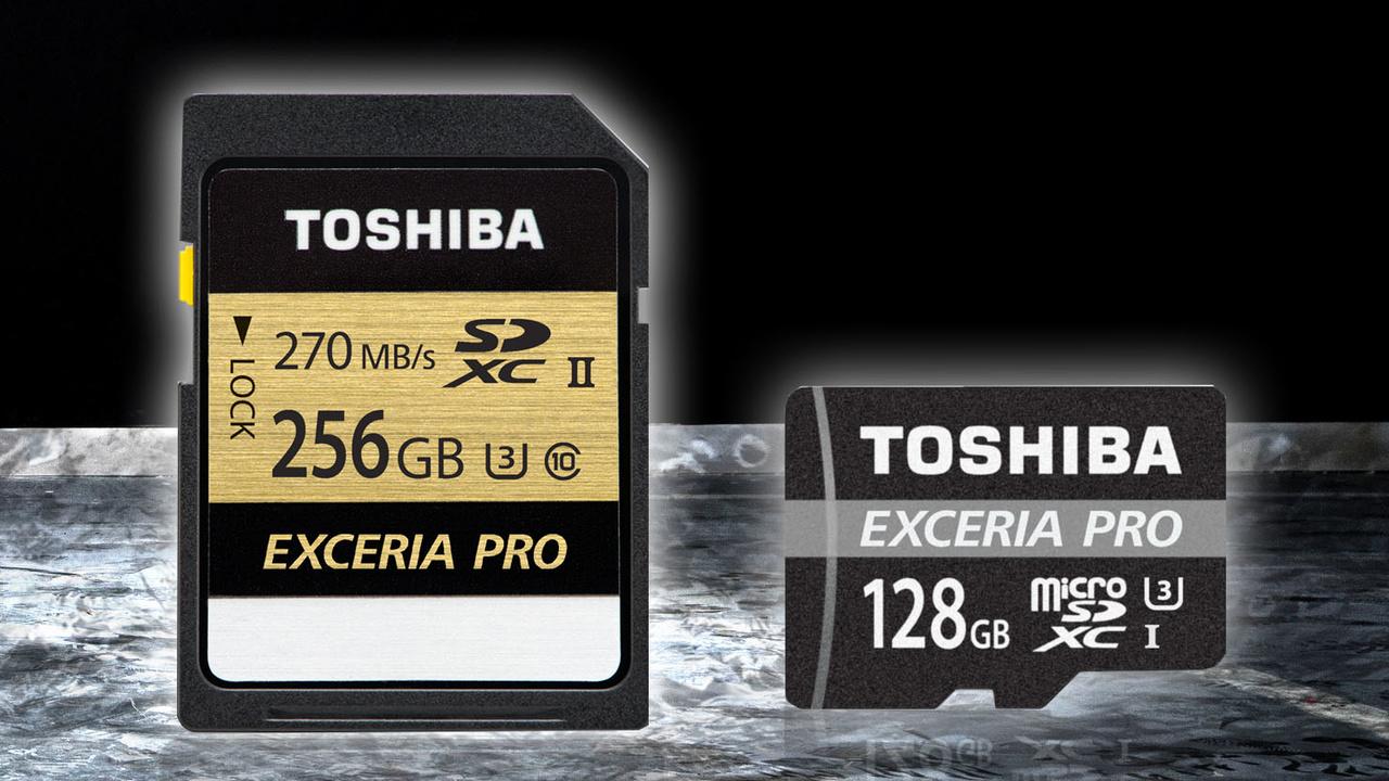 Exceria Pro N501/M402: Toshibas SD-Speicherkarten werden größer und schneller