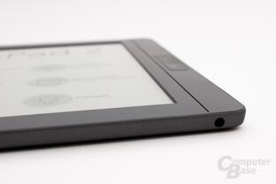 Kopfhöreranschluss für den Audio-Player sowie der Vorlesefunktion des InkPad 2
